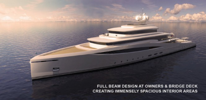 Luxury motor yacht Purity concept
