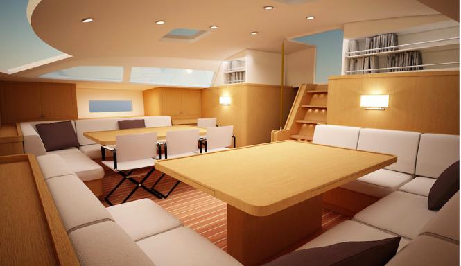 Luxury sailing yacht Swan 95 S Interior - Image credit to Nautor's Swan