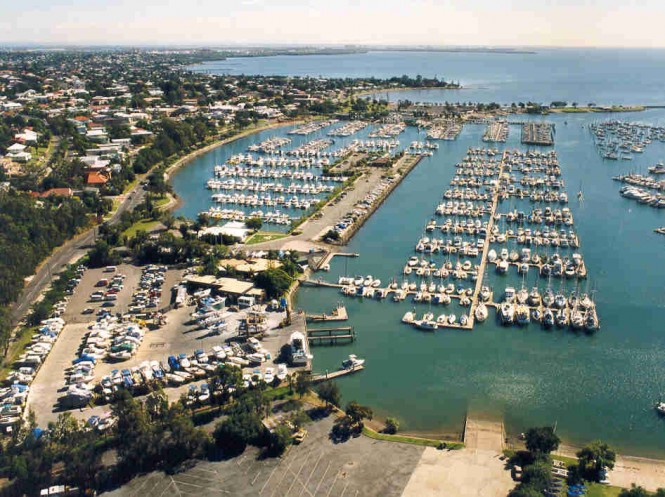 Manly Boat Harbour in Queensland, Australia