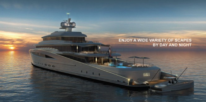 Mega yacht Purity design