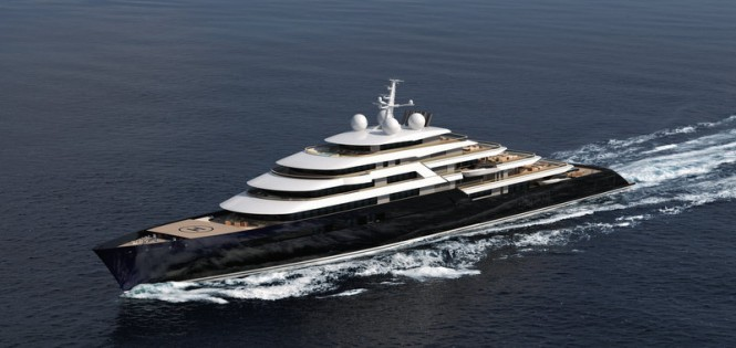 New 165m mega yacht project by Nauta Design