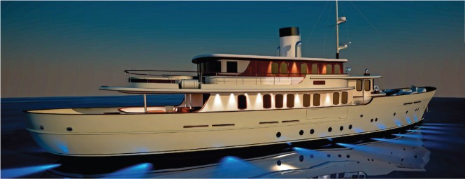 New 40m classic tri-deck motor yacht by Sarp Yachts