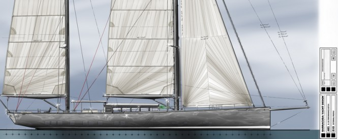 New 42m superyacht concept for Pendennis by Barracuda Yacht Design