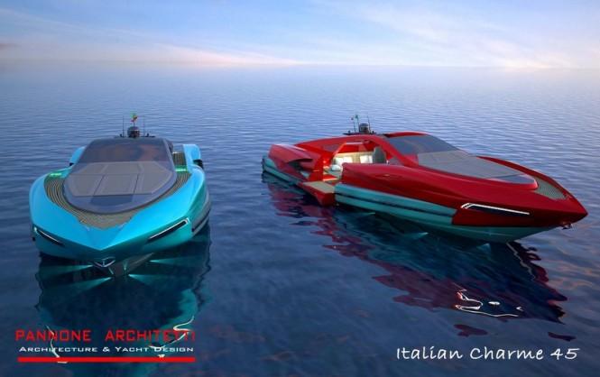 New Italian Charme 45 superyacht tender project by Studio Pannoni Architetti