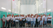 New paint shed - team - Image credit to Monaco Marine