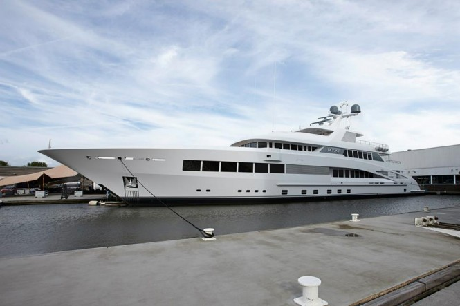 Newly launched mega yacht ROCK.IT by Feadship