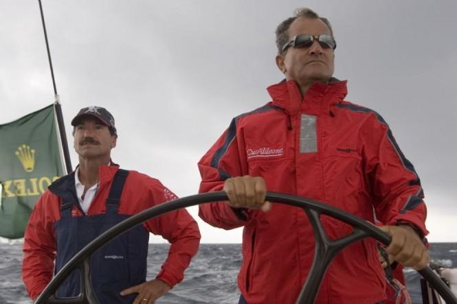 On board Cuor di Leone, 2006 Rolex Swan Cup - Leonardo Ferragamo and Rolex Testimonee Paul Cayard