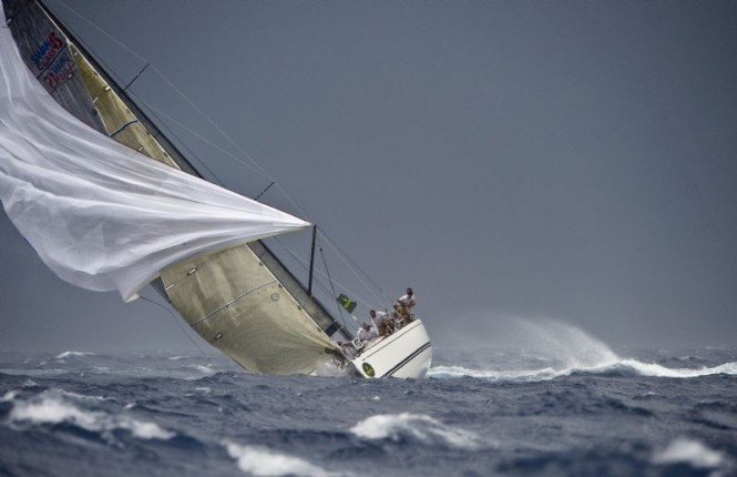 PLENTY, testifying the strong winds during the 2008 Rolex Swan Cup