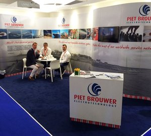 Superyachts with Piet Brouwer systems onboard displayed at Monaco Yacht Show 2014