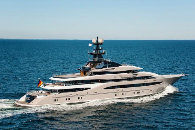 Project Global - Mega Yacht KISMET  - sea trial - Photo ©Klaus Jordan