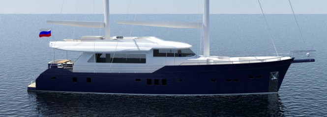 Rendering of the 26m super yacht ELENA by Ava Yachts