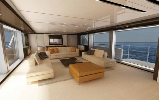 SF 35 superyacht concept - Cabin