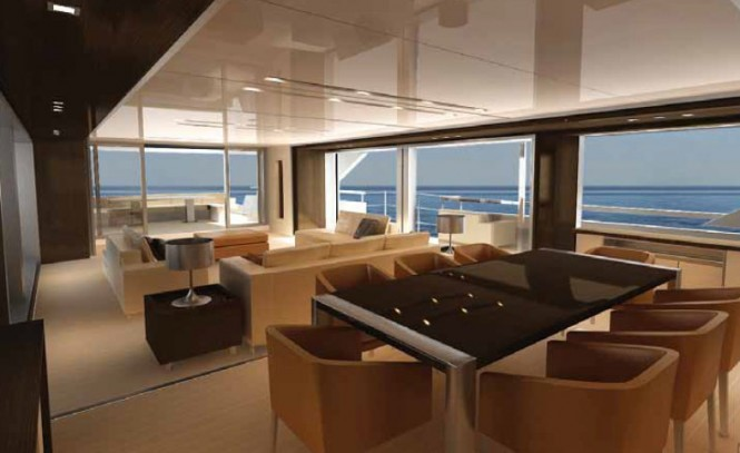 SF 35 yacht concept - Dining