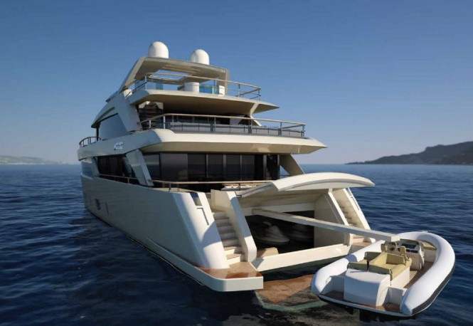SF 35 yacht concept - aft view