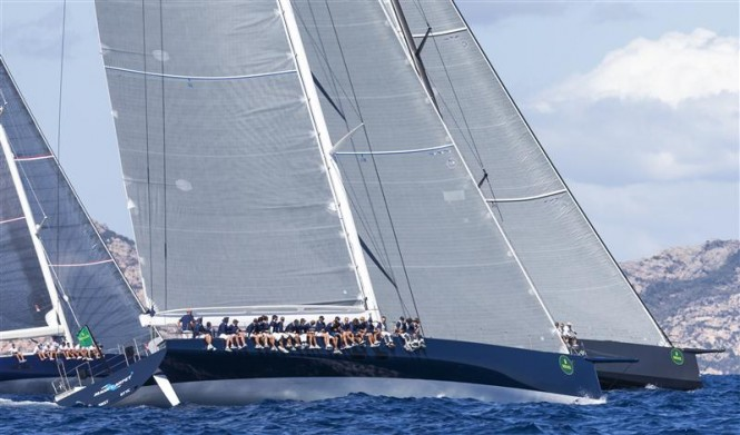 Sir Lindsay Owen Jones' MAGIC CARPET (GBR) at the start of the Wally division - Photo by Rolex Carlo Borlenghi