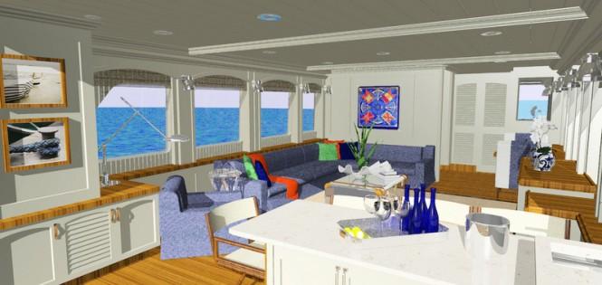SkyMaster Yacht - Main Saloon