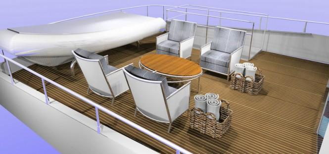 Super yacht SkyMaster - Aft Deck