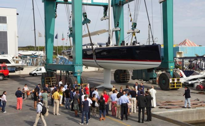 Superyacht Nakupenda at launch