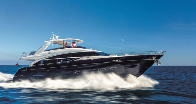 Superyacht Princess 88 - Image courtesy of Princess Yachts International plc