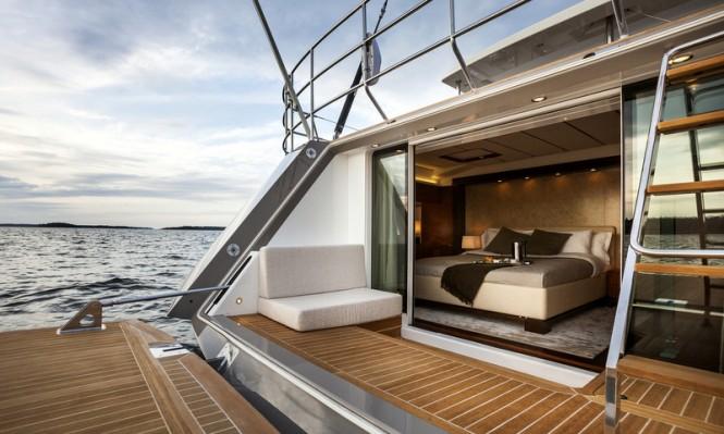 Swan 105 RS Yacht - aft view Photo by Nautors Swan and Eva-Stina Kjellman