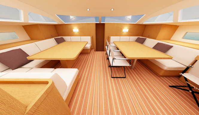 Swan 95 S Yacht - Interior - Image credit to Nautor's Swan