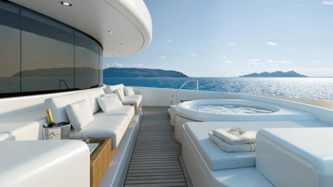 Tankoa Motor yacht S701 - Jacuzzi