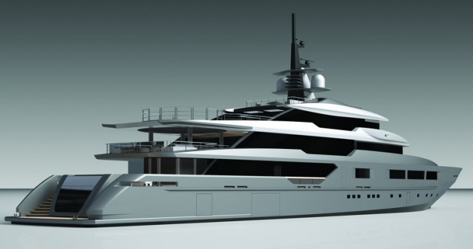 Tankoa S701 Yacht - aft view