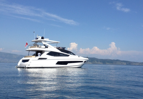 The Sunseeker 75 Yacht is a perfect combination of style and sophistication