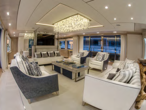 "The bespoke interior of the Sunseeker 40 Metre Yacht ""THUMPER"" is a must-see"