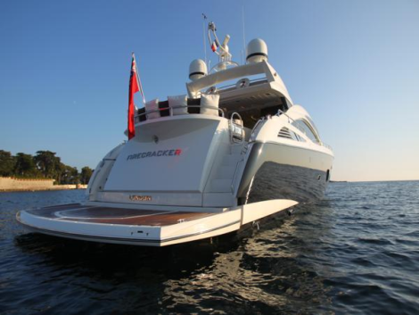 "The iconic Predator 84 ""FIRECRACKER"" accommodates 8 guests in 4 luxury cabins"