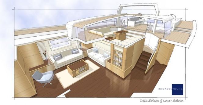 100' JFA Yacht Concept - Interior