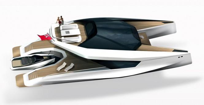 115' JFA Power Catamaran Yacht Concept