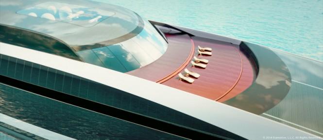 125m Iris Series Yacht - Front Deck