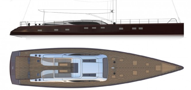 30m Sarp Yacht THE GEM - Profile