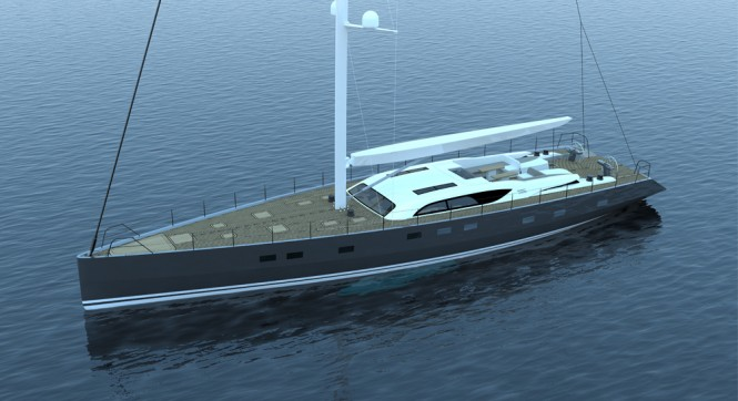 30m Sarp superyacht THE GEM with interiors by Stephen Huish