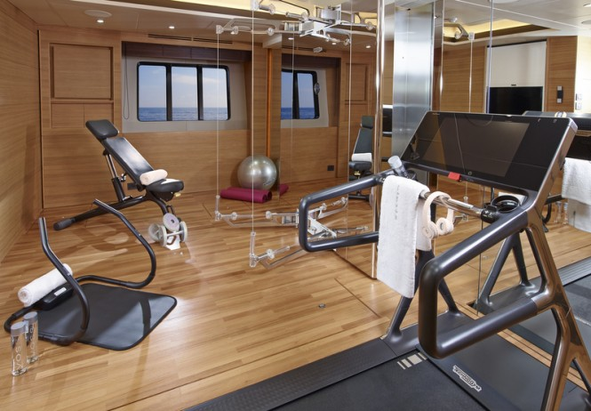 40M superyacht Solaris - Gym