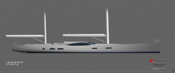 46m Rob Doyle sailing yacht design
