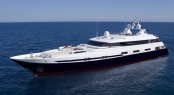 50m luxury yacht Double Trouble after full hull film finish by Wild Group