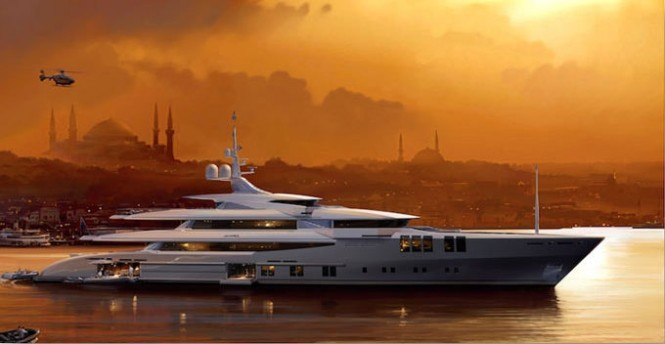 68m mega yacht Project Skyfall by Sunrise Yachts