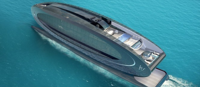 75m Iris Series Yacht from above