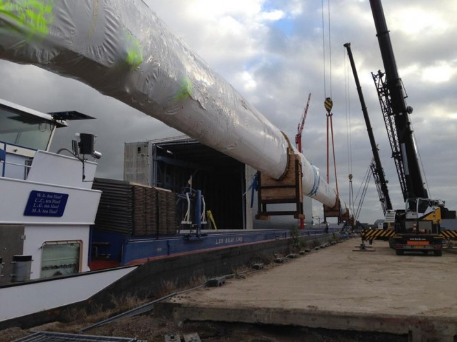 85m super yacht Hull Y711Hull 3069 (Project 85) mast