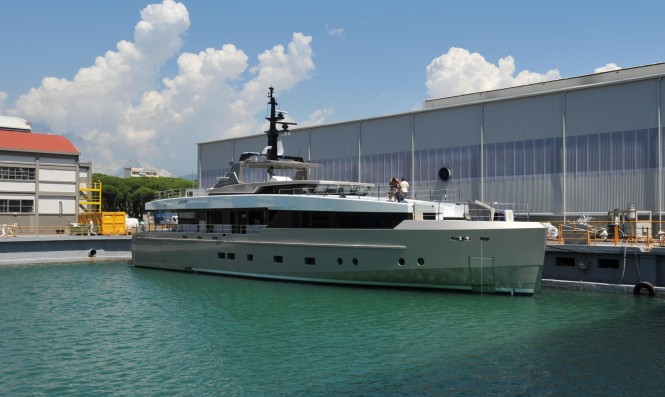Admiral Impero 37 Yacht NONO in the drydock
