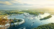 Aerial view of Sanctuary Cove International Boat Show