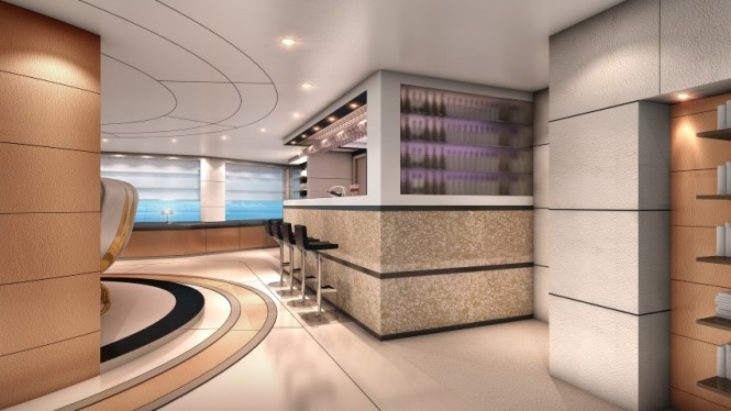 Austin superyacht concept - Bar Area