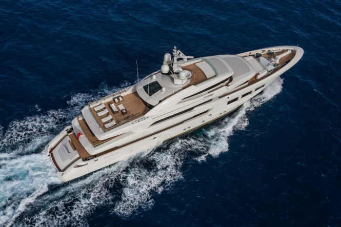 CRN Motor Yacht SARAMOUR  from above