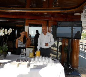 GMC Breakfast Meetings hosted by 65m motor yacht WHITE ROSES of DRACHS at MYS 2014