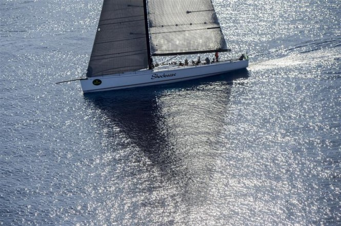 Gerge Sakellaris' Maxi 72 SHOCKWAVE (USA) is one of the fastest boats in the fleet