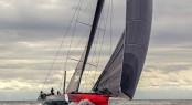 Hodgdon Yacht Comanche under sea trials - Photo by George Bekris via Scuttlebut Sailing News