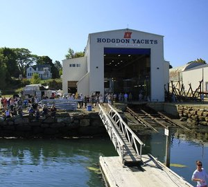 Photos from launch of 100 Super Maxi Yacht COMANCHE by Hodgdon Yachts