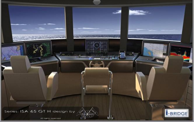 ISA 66 Granturismo mega yacht OKTO - Concept Wheelhouse